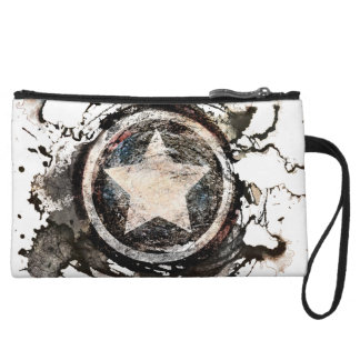 Captain America Grunge Shield Wristlet