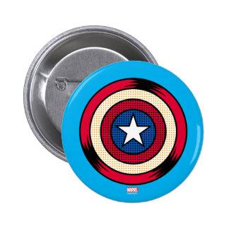 Captain America Halftone Shield 2 Inch Round Button