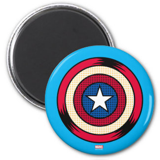 Captain America Halftone Shield 2 Inch Round Magnet