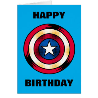 Captain America Halftone Shield Card