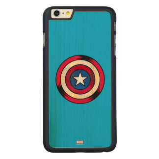 Captain America Halftone Shield Carved® Maple iPhone 6 Plus Case