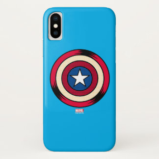 Captain America Halftone Shield iPhone X Case