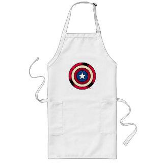 Captain America Halftone Shield Long Apron