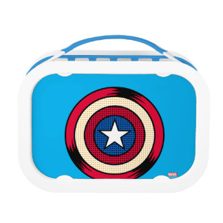 Captain America Halftone Shield Lunch Box