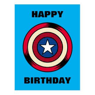 Captain America Halftone Shield Postcard