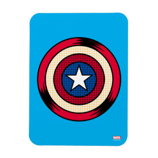 Captain America Halftone Shield Rectangular Photo Magnet