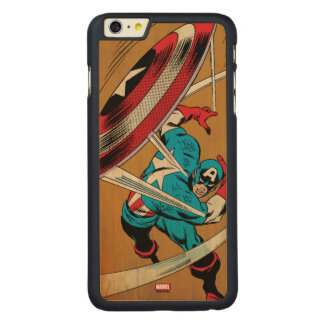 Captain America-He Took On All Of Them Carved® Maple iPhone 6 Plus Case