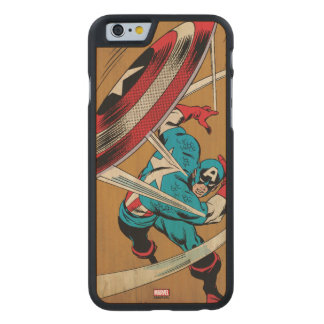 Captain America-He Took On All Of Them Carved® Maple iPhone 6 Slim Case