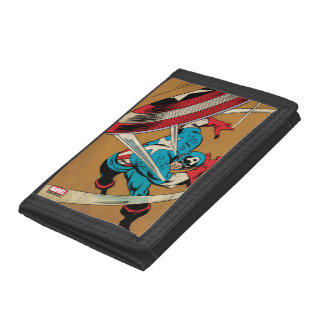 Captain America-He Took On All Of Them Trifold Wallet