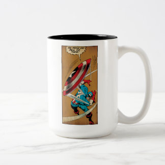 Captain America-He Took On All Of Them Two-Tone Coffee Mug