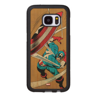 Captain America-He Took On All Of Them Wood Samsung Galaxy S7 Case