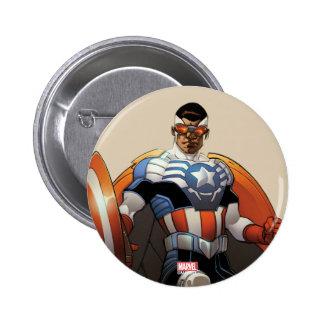 Captain America In Flight 2 Inch Round Button