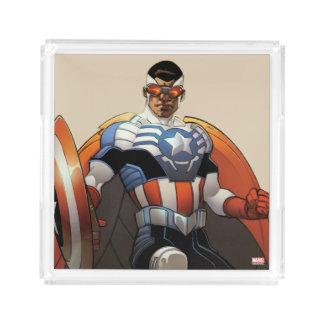 Captain America In Flight Acrylic Tray