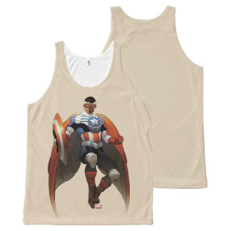 Captain America In Flight All-Over-Print Tank Top