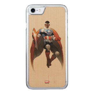 Captain America In Flight Carved iPhone 8/7 Case