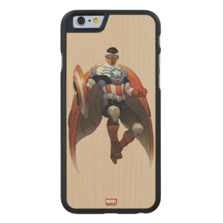 Captain America In Flight Carved Maple iPhone 6 Case