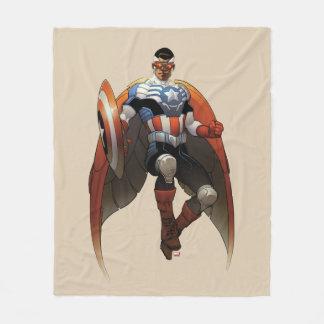Captain America In Flight Fleece Blanket