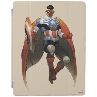 Captain America In Flight iPad Cover