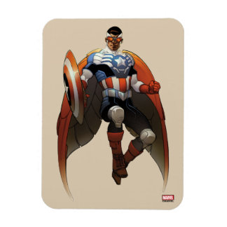 Captain America In Flight Magnet