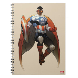 Captain America In Flight Notebooks