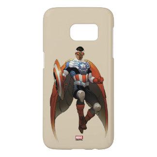 Captain America In Flight Samsung Galaxy S7 Case