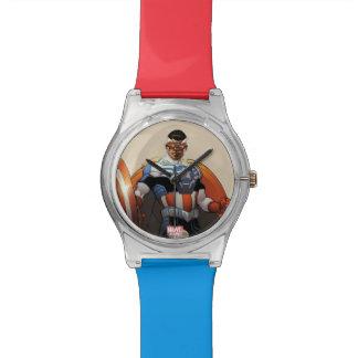 Captain America In Flight Wristwatch