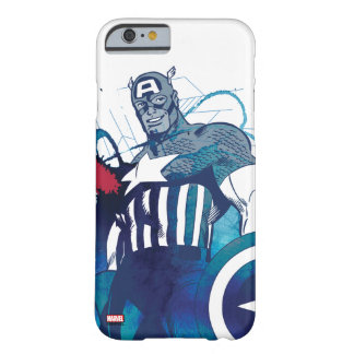 Captain America Ink Splatter Graphic Barely There iPhone 6 Case