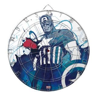 Captain America Ink Splatter Graphic Dart Boards
