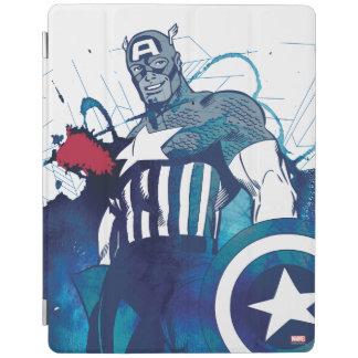Captain America Ink Splatter Graphic iPad Cover