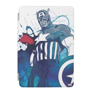 Captain America Ink Splatter Graphic iPad Mini Cover