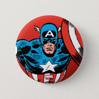 Captain America Jump 2 Inch Round Button