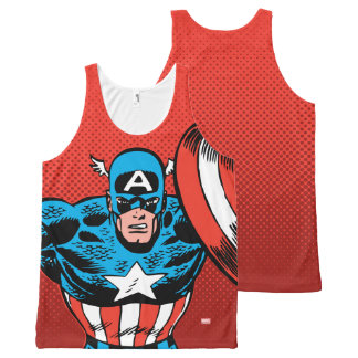 Captain America Jump All-Over-Print Tank Top