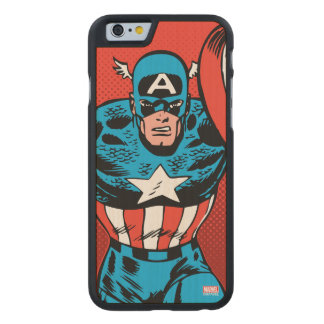 Captain America Jump Carved® Maple iPhone 6 Case
