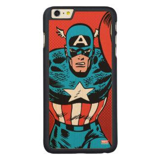 Captain America Jump Carved Maple iPhone 6 Plus Case