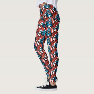 Captain America Jump Leggings
