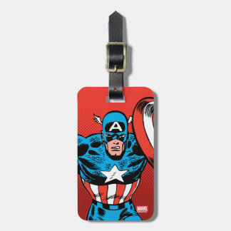 Captain America Jump Luggage Tag