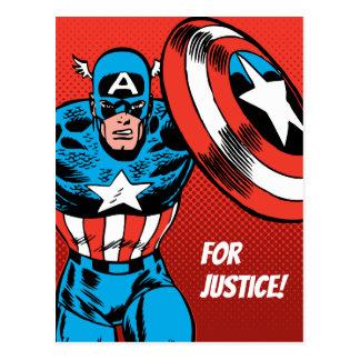 Captain America Jump Postcard