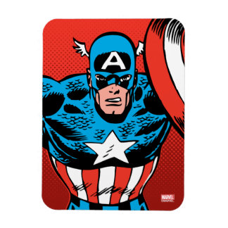 Captain America Jump Rectangular Photo Magnet