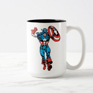 Captain America Jump Two-Tone Coffee Mug