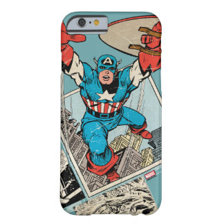 Captain America Leaping Out Of Comic Barely There iPhone 6 Case