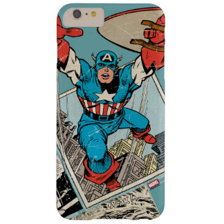 Captain America Leaping Out Of Comic Barely There iPhone 6 Plus Case