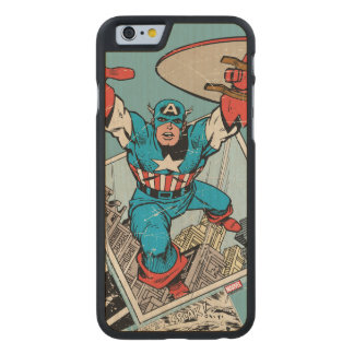 Captain America Leaping Out Of Comic Carved® Maple iPhone 6 Case