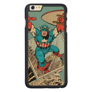 Captain America Leaping Out Of Comic Carved® Maple iPhone 6 Plus Case