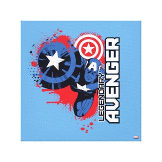 Captain America Legendary Avenger Canvas Print