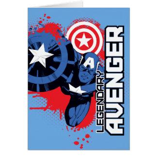 Captain America Legendary Avenger Card
