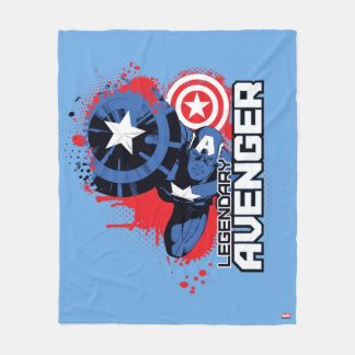 Captain America Legendary Avenger Fleece Blanket