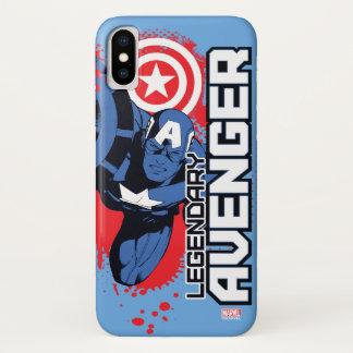 Captain America Legendary Avenger iPhone X Case