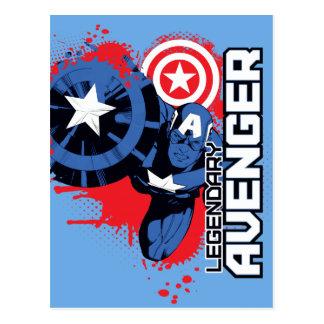 Captain America Legendary Avenger Postcard