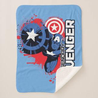 Captain America Legendary Avenger Sherpa Blanket