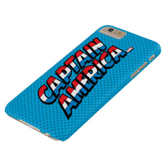 Captain America Name Logo Barely There iPhone 6 Plus Case